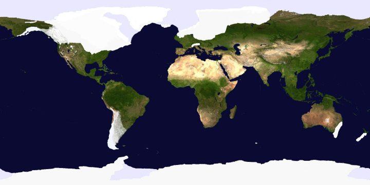 buzul çağı dünya haritası